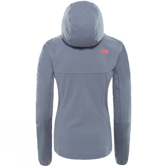The North Face Womens Hikesteller Softshell Hoodie Grisaille Grey