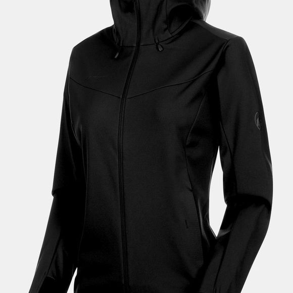 Mammut Womens Ultimate V SO Hooded Jacket Black/Black