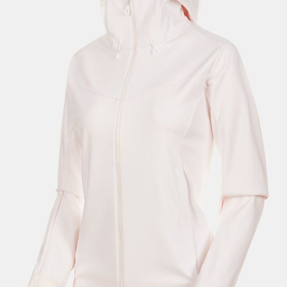 Mammut Womens Ultimate V SO Hooded Jacket Bright White/Candy Melange