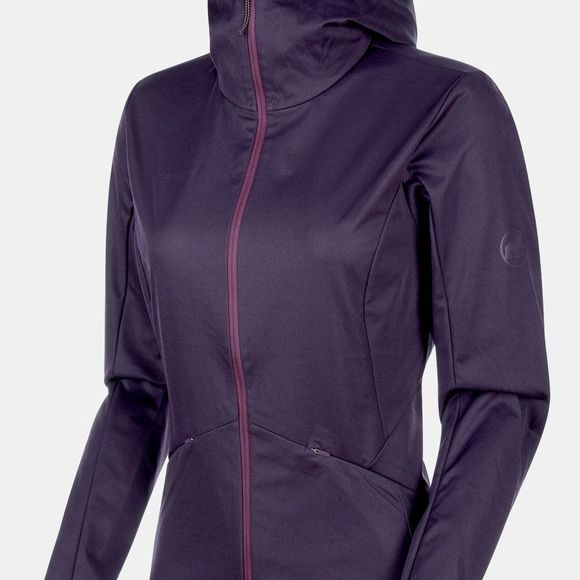 Mammut Womens Ultimate V Tour SO Hooded Jacket Galaxy Melange