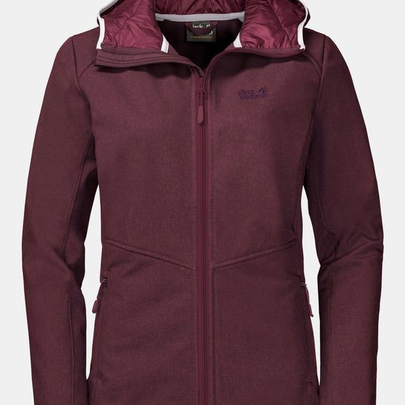 Jack Wolfskin Womens Sky Point Hooded Softshell Fall Red