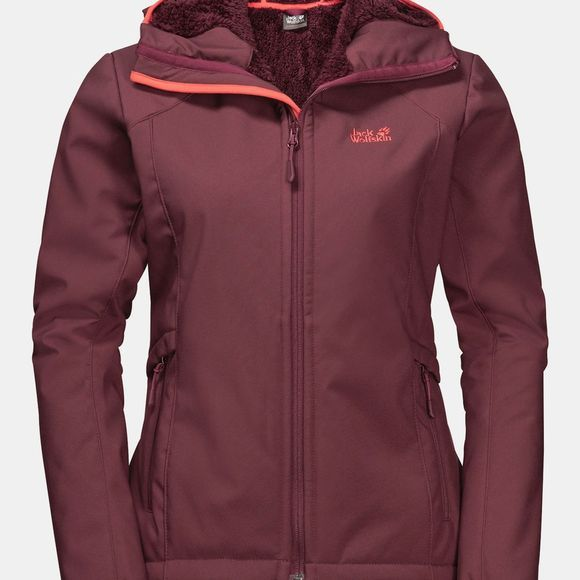 Jack Wolfskin Womens Rock Valley Jacket Fall Red