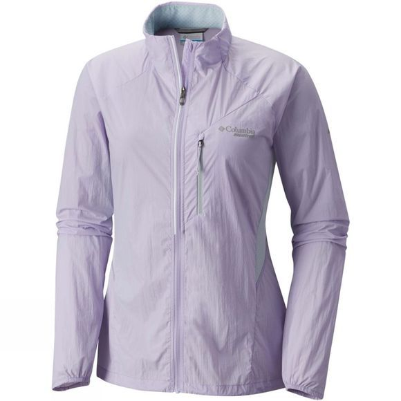 Columbia Womens Titan Lite Windbreaker II Jacket Soft Violet/Cirrus Grey