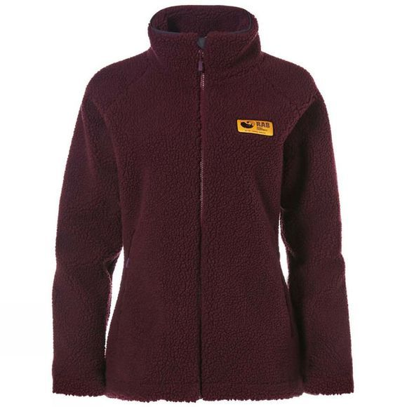 Rab Womens Original Pile Jacket Eggplant