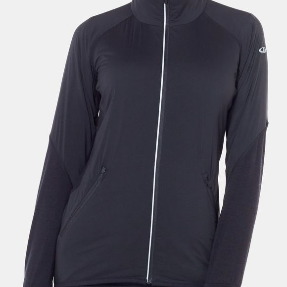 Icebreaker Womens Tech Trainer Hybrid Jacket Black