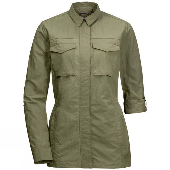 Jack Wolfskin Womens Lakeside Field Jacket Khaki