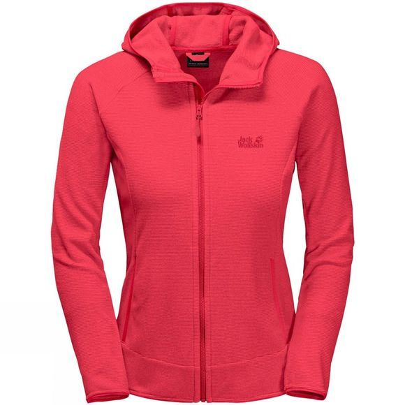Jack Wolfskin Womens Arco Jacket Tuli Red Stripe