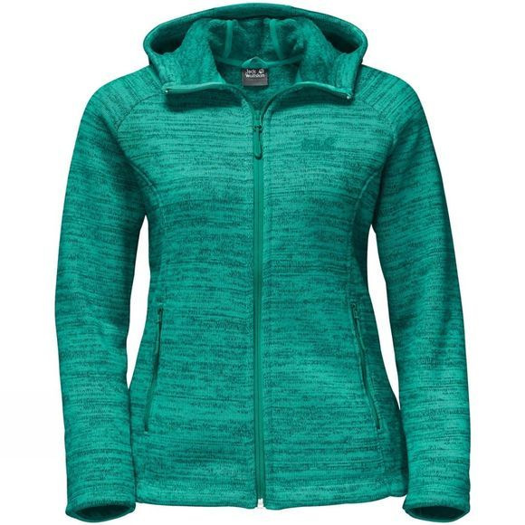 Jack Wolfskin Womens Aquila Hooded Jacket Deep Mint