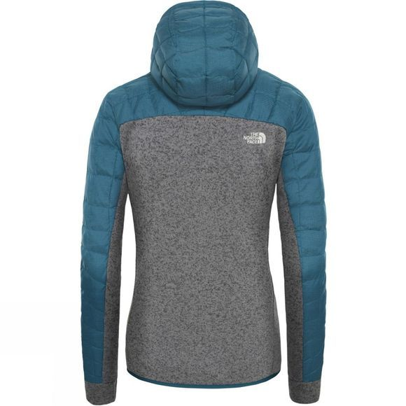 The North Face Womens ThermoBall Gordon Lyons Hoodie Blue Coral/Tnf Medium Grey Heather