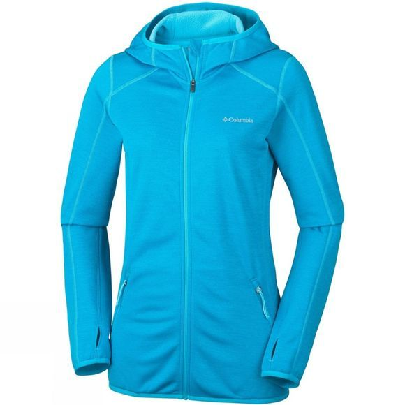 Columbia Womens Sapphire Trail Hooded FZ Atoll