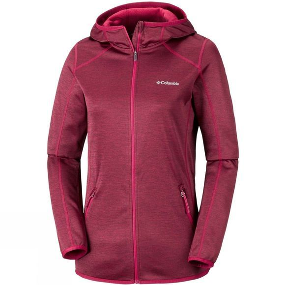 Columbia Womens Sapphire Trail Hooded FZ Pomegranate