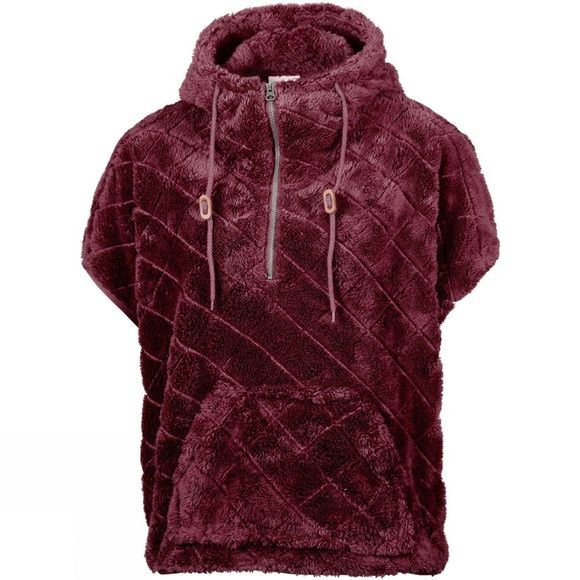 Columbia Womens Fire Side Sherpa Shrug Rich Wine