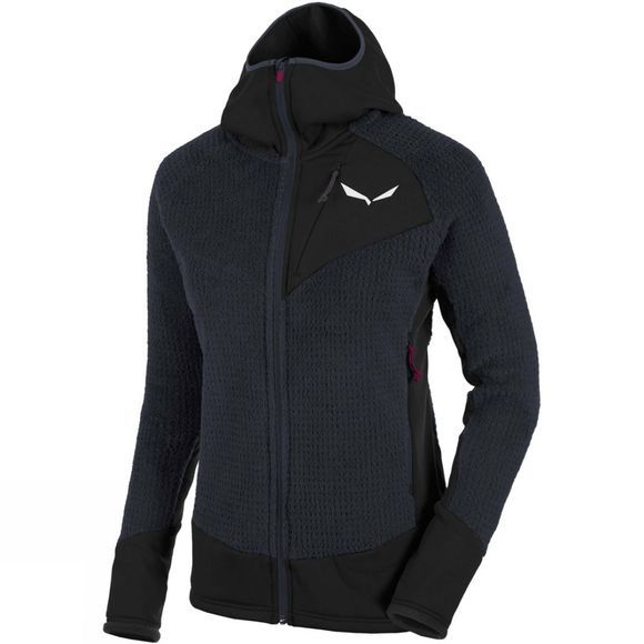 Salewa Womens Ortles Polartec Highloft Full Zip Hoody Night Black