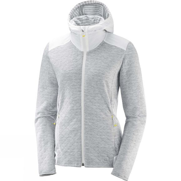 Salomon Womens Elevate Full Zip Midlayer Top White