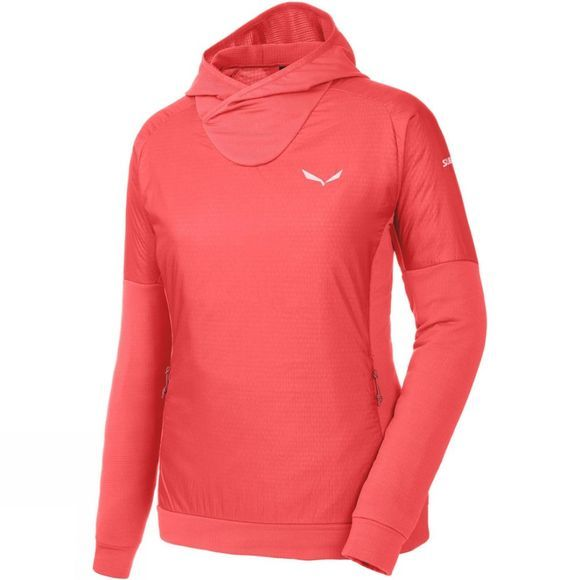 Salewa Womens Pedroc Alpha Hoody Hot Coral