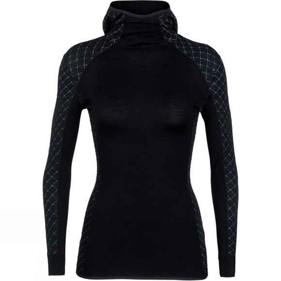 Icebreaker  Womens Affinity Thermo Hooded Pullover Black