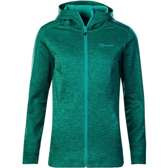 Berghaus Womens Kamloops Hooded Jacket Dark Deep Green Marl