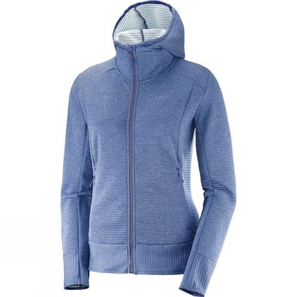 Salomon Womens Right Nice Mid Hoodie Medieval Blue