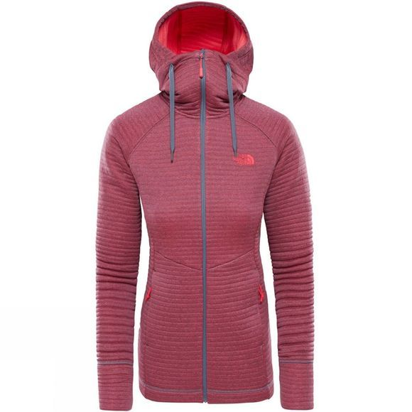 The North Face Womens Hikestellar Midlayer Fleece Grisalle Grey/ Atomic Pink