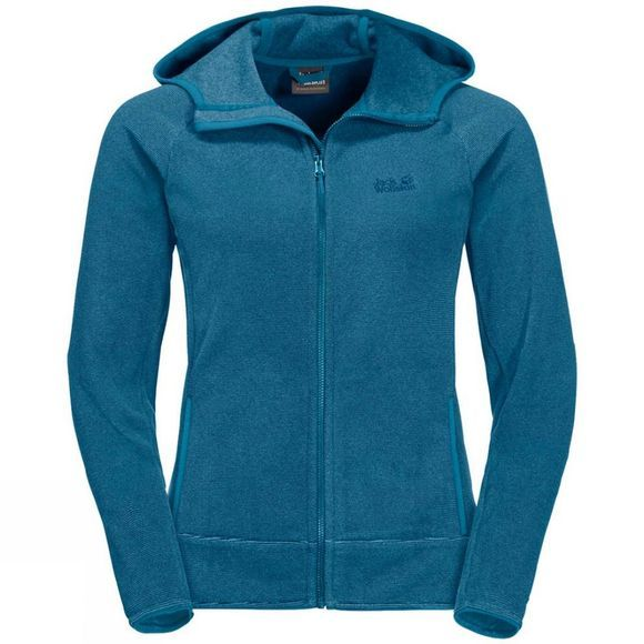 Jack Wolfskin Womens Arco Jacket Celestial Blue Stripes