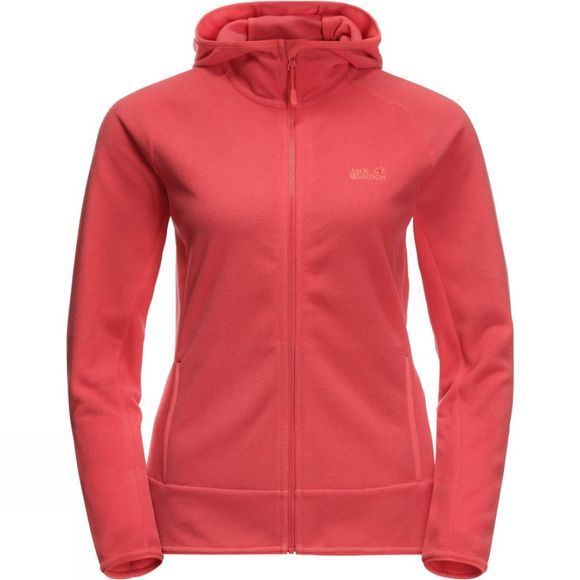 Jack Wolfskin Womens Arco Jacket Tulip Red Stripes