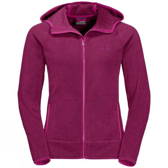 Jack Wolfskin Womens Arco Jacket Fuchsia Stripes