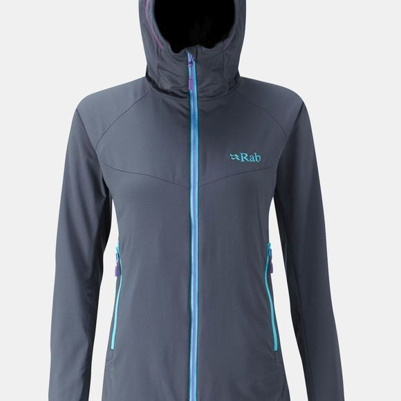 Rab Womens Alpha Flux Jacket Beluga/Beluga/Ash