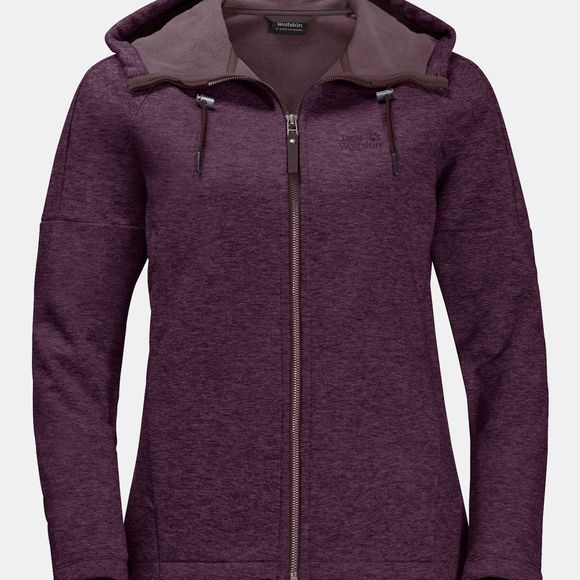 Jack Wolfskin Womens Sky Thermic Hooded Jacket Aubergine