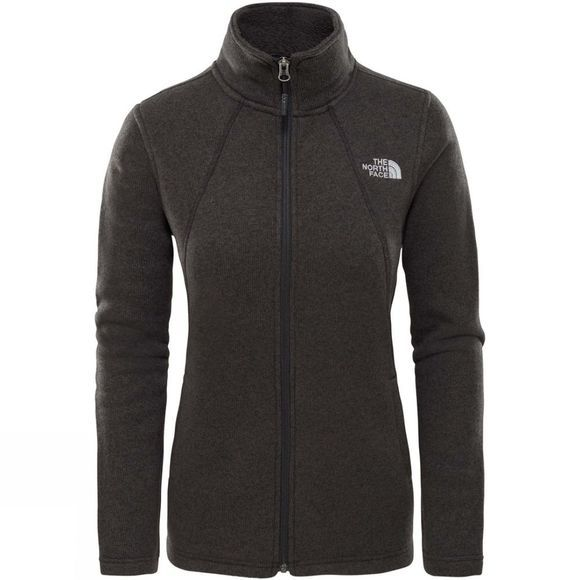 The North Face Womens Crescent Full Zip Fleece TNF Black Heather
