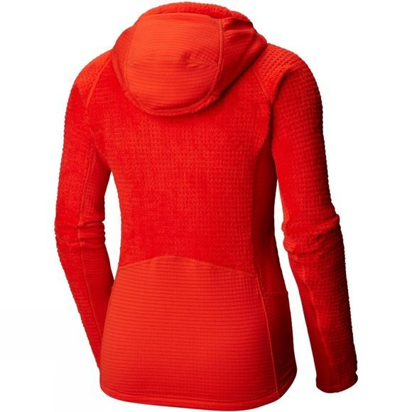 Mountain Hardwear Women's Monkey Grid Hooded Jacket Fiery Red