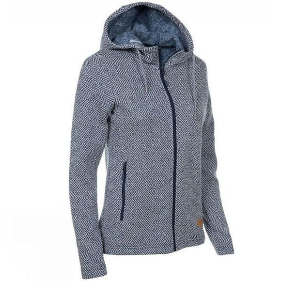 Ayacucho Womens Chilly Spring Hoodie Navy/White