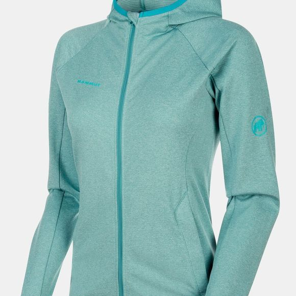Mammut Womens Nair ML Hooded Jacket  Waters Melange