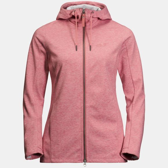 Jack Wolfskin Womens Riverland Hooded Jacket Rose Quartz