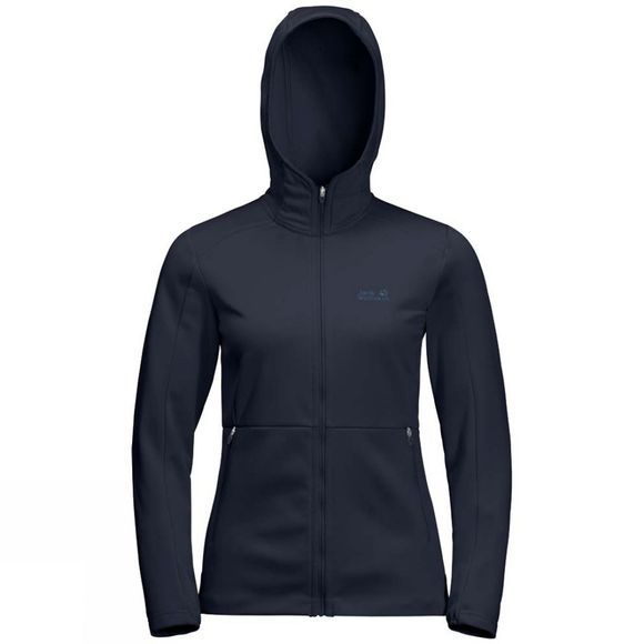 Jack Wolfskin Womens Kiewa Hooded Jacket Midnight Blue