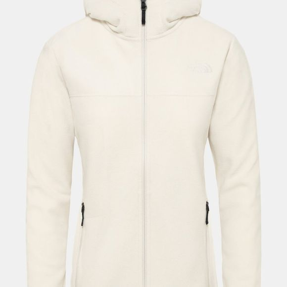 The North Face Womens Tka Glacier Full Zip Hoodie Vintage White