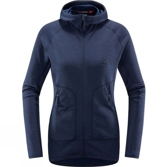 Haglofs Womens Heron Hooded Jacket Tarn Blue