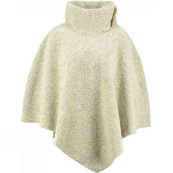 Ayacucho Womens Montana Poncho Ivory/Light Grey
