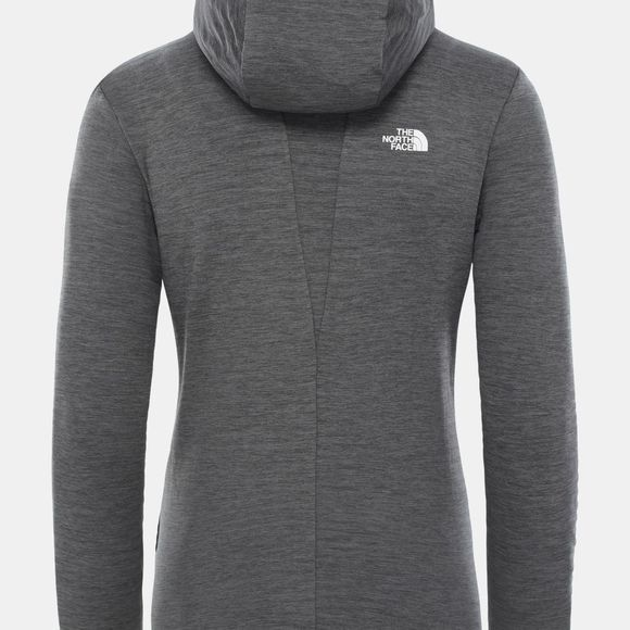 The North Face Womens Impendor Light Midlayer Hoodie TNF Black Heather/TNF White
