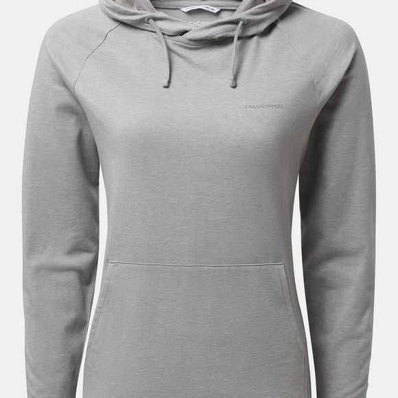 Craghoppers Womens Nosilife Alandra Hooded Top Soft Grey Marl