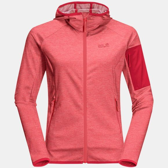 Jack Wolfskin Womens Milford Hooded Jacket Tulip Red
