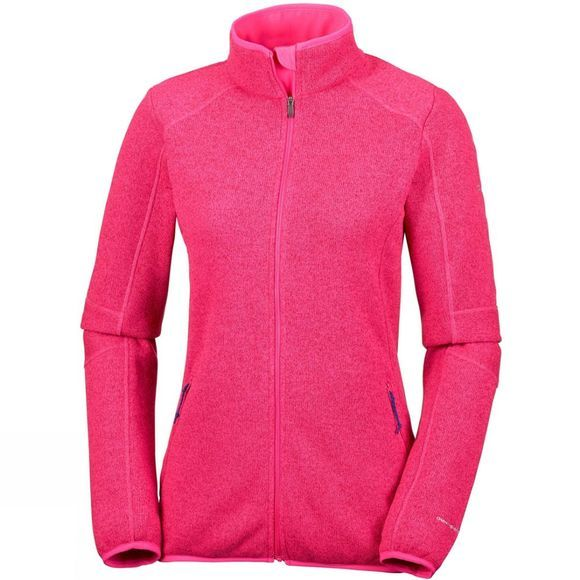 Columbia Women's Altitude Aspect II Full Zip Punch Pink Heather