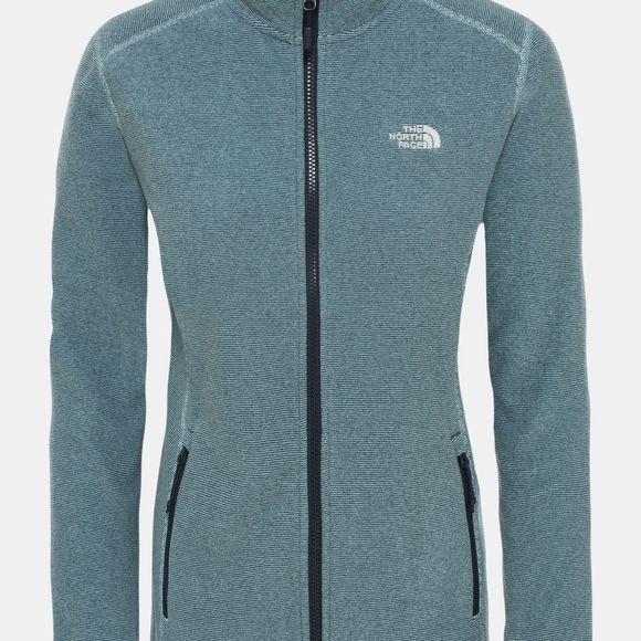 The North Face Womens 100 Glacier Full Zip Fleece Windmill Blue/Urban Navy