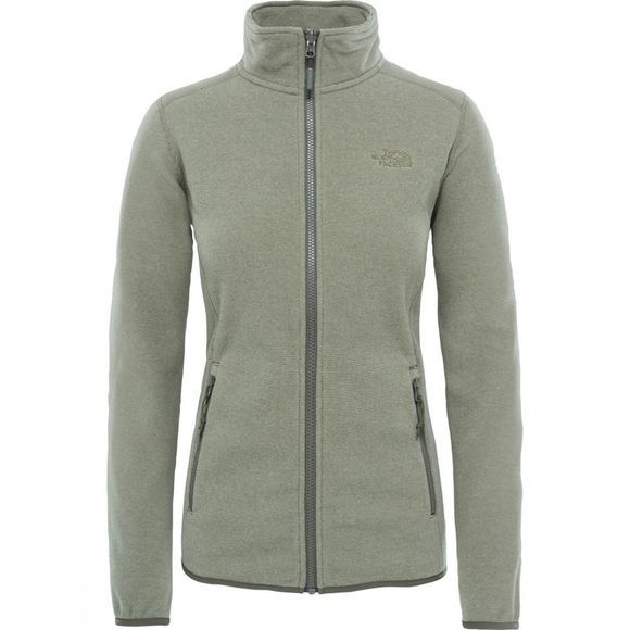 The North Face Womens 100 Glacier Full Zip Fleece Grape Leaf Stripe