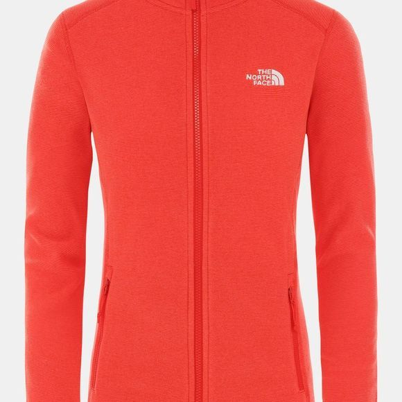 The North Face Womens 100 Glacier Full Zip Fleece Cayenne Red