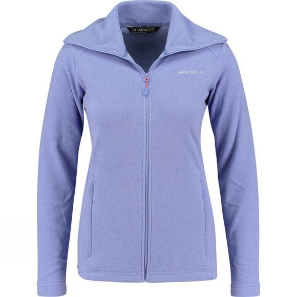 Ayacucho Womens Crevasse High Collar Fleece Lavender Stripe