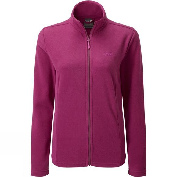 Jack Wolfskin Womens Tokee Fleece Jacket Amethyst/Fuschia
