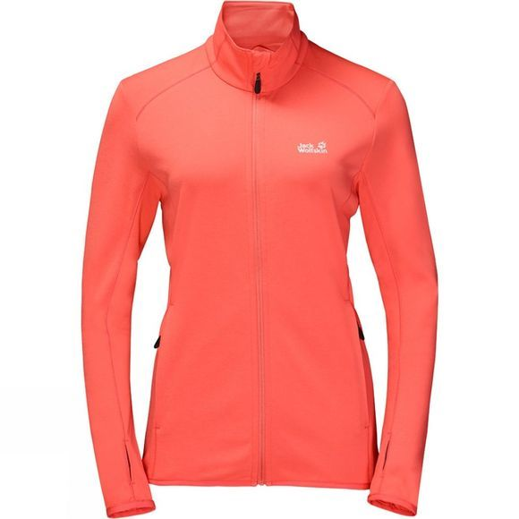 Jack Wolfskin Womens DryNetic Jacket Hot Coral