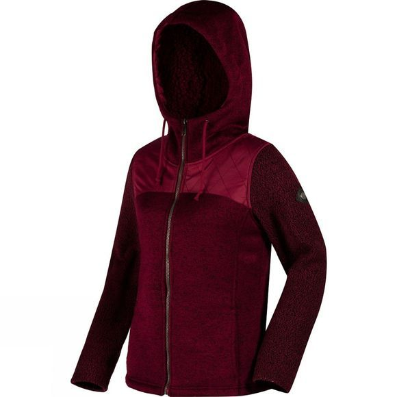 Regatta Womens Zetta Full Zip Fleece Dk Pimento