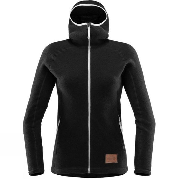 Haglofs Womens Micron Wool Hoodie True Black