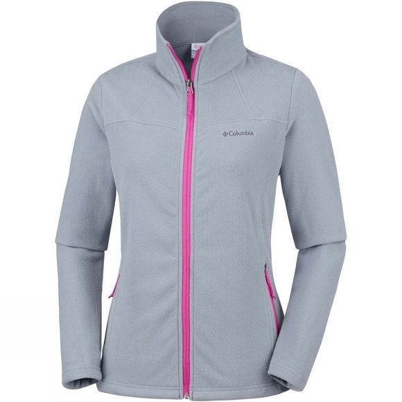 Columbia Womens Fast Trek Light Full Zip Top Tradewinds Grey